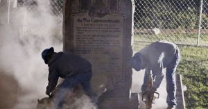 Removing the Ten Commandments from the Oklahoma State Capital grounds.